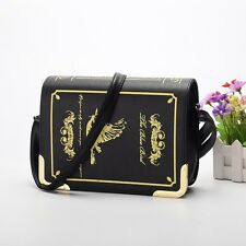 Black Gothic Lolita Girls Magic Book Pattern Shoulderbag Messenger Bag Handbag