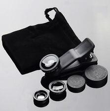3in1 Con Clip Fotocamera Lenti Kit Fisheye+Grandangolare + Macro per ☁Telefono