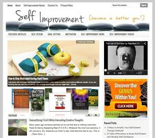 SELF IMPROVEMENT turnkey website for sale with DAILY AUTO CONTENT UPDATES