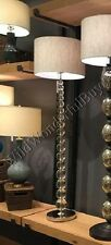 Pottery Barn Stacked Crystal Floor Lamp Clear Sphere NIB