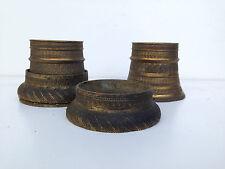 ancien jeu de bronzes ameublement empire bague pour colonne à boule 19eme
