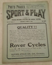 1904 ASTON VILLA v WOOLWICH ARSENAL/ WBA v PORT VALE/ SMALL HEATH v RIPLEY ATH.