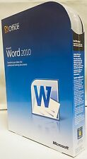 Microsoft Word 2010 Full Retail Box