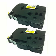 2 x Brother Compatible TZ631 Black.Yellow 12mm Tape For P-Touch PT-100, PT-1000