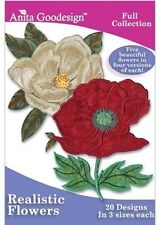Realistic Flowers Anita Goodesign Embroidery Design CD
