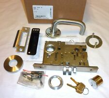Falcon MA161 SG 626 Mortise Exit Door Latch Lock Sutro Gala w/ Cyl SATIN CHROME