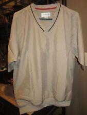 Rolls Royce Cutter & Buck Short Sleeve Tan Golf Windshirt Jacket Mens S (bin58)