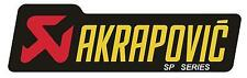 NEW GENUINE AKRAPOVIC SP 180x53 HEAT PROOF RESISTANT EXHAUST STICKER DECAL