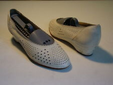 Vintage Designer White Bridal Ballerina Leather Shoes size 36 6 Austria