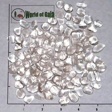 QUARTZ Clear mini-xsm tumbled 1/2 lb bulk stones crystal B Grade
