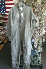 NOMEX US ARMY Flight Suit CWU 27P Flyers GREEN Coveralls 40R
