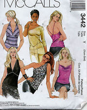 Sewing Pattern McCalls 3442 Womens Spaghetti Strap One Shoulder Halter Top (4-10
