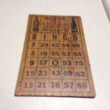 Vintage RC & Upper Ten Bingo Board,Wooden,1930's