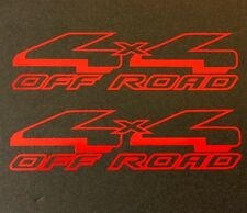 2 NEW RED 4X4 4WD DECAL STICKER TRUCK SUV FORD CHEVY DODGE TOYOTA GMC LOGO BADGE