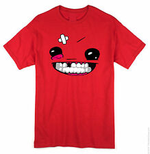 Super meat boy T shirt MEATBOY xbox360 indie games steam PC