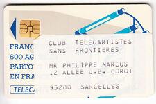 VARIETE TELECARTE LOGO .. 50U Te46 SO3 REPIQUAGE AUT. CLUB TELECARTE 95  C.?€