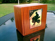 ACID CIGARS BY DREW ESTATE WOODEN CIGAR BOX  HELD 40 BLONDIE CIGARS NOW EMPTY