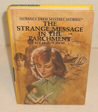 NANCY DREW 54 STRANGE MESSAGE IN THE PARCHMENT by CAROLYN KEENE matte yellow hc
