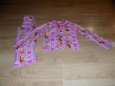 Girls Size XS 4-5 Disney Princess Flannel Pajama Set Pants Button Up Top Belle