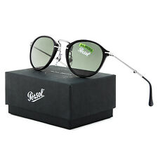 Persol 3075 Reflex Folding Sunglasses 95/58 Black Green Polarized PO3075S 49 mm