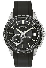 New Citizen Satellite Wave World Time GPS Rubber Strap Men's Watch CC3005-00E