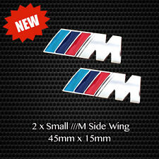 2 x ///M Sport Tech Small Badge Side Wing Quality Chrome Metal Emblem Decal BMW