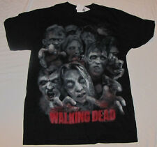 SMALL MENS T-SHIRT THE WALKING DEAD ZOMBIE HORDE BITERS FLESH EATERS TV SHOW AMC