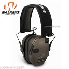 Walkers Razor Series Slim Shooter Electronic Ear Muff Dark Earth Folding 23dB