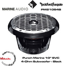 "Rockford Fosgate PM210S4B - Punch Marine 10"" SVC 4-Ohm Subwoofer - Black"
