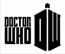 Doctor Who Decal, Black vinyl sticker for car or computer