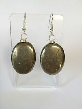 Pyrite Silver Plated Earrings