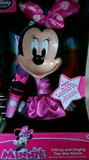 "DISNEYSTORE GENIUNE -MINNIE MOUSE TALKING AND SINGING POP STAR DOLL - 13"" BNIB"