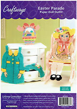 EASTER  PARADE  Paper  Doll  Outfit  plastic  canvas   KIT (#405)