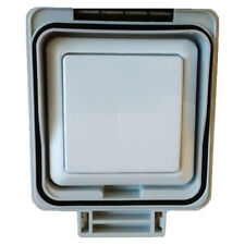 New JJSJSLW841 LightwaveRF Waterproof Single Switch in white with smoked cover