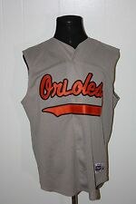 Majestic Baltimore Orioles Button Sleevless Mesh Jersey XL #3 Harold Baines
