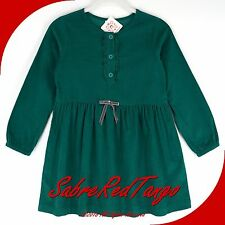 NWT HANNA ANDERSSON PINCORD CORD CORDUROY PEASANT DRESS FOREST GREEN 130 8