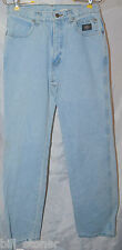 Ladies Teens Size 8 L Long Harley Davidson Motorcycle Light Blue Jeans