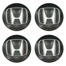 SET OF 4 OEM 13 14 15 16 Honda Accord 44742- Black Wheel Center Cap Hubcap