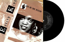 "EVELYN ""CHAMPAGNE"" KING - GIVE ME ONE REASON - 7"" 45 VINYL RECORD PIC SLV 1984"