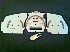 98 99 00 FORD RANGER & EXPLORER WHITE FACE CLUSTER GAUGES w/o tachometer (KM)