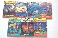 Goosebumps R L Stine Paperback Book Lot of 7 #'s 20,21,22,25,28,29,34 Scholastic