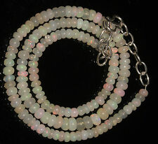 """52 Carat Necklace 4 to 5.5mm 16"""" Beads Natural Genuine Ethiopian Welo Fire Opal"""