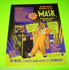THE MASK By DATA EAST ORIG REDEMPTION ARCADE GAME MACHINE SALES FLYER JIM CARREY