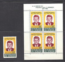 SENEGAL , KENNEDY, SS & STAMP , PERF ,  MNH