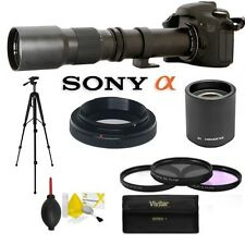 TELEPHOTO ZOOM LENS 500mm -1000mm + ACCESSORIES FOR SONY ALPHA A450 A290 A390