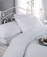 White 100% Cotton 300TC Self Striped Bedding Sets Available In All Sizes
