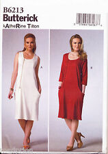 ©2015 BUTTERICK SEWING PATTERN 6213 MISSES 16-24 KATHERINE TILTON DRESS/PINAFORE