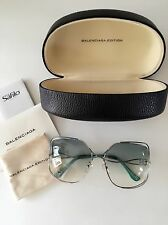 BALENCIAGA SUNGLASSES-BAL 0051/S 0104R-Turquoise Gradient Square Wire Frame