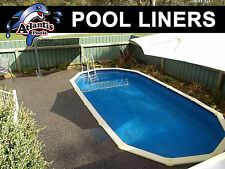 POOL LINER 7.3m x 3.8m (24x12'4'') for Above Ground Swimming  D/B OVAL