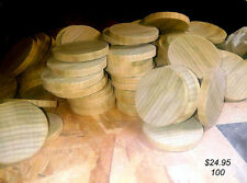 "Wood Circles Discs Wood Crafts  Game Spacers Decorations    100    2"" x 1/4"""